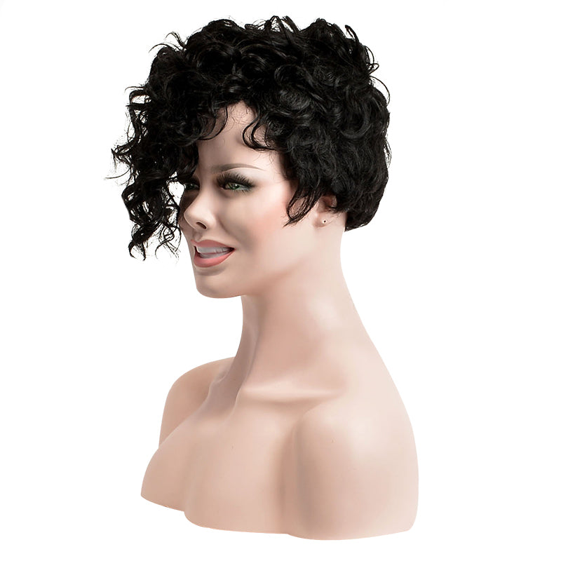 Women Synthetic Hair Capless Curly 8 Inches Wigs
