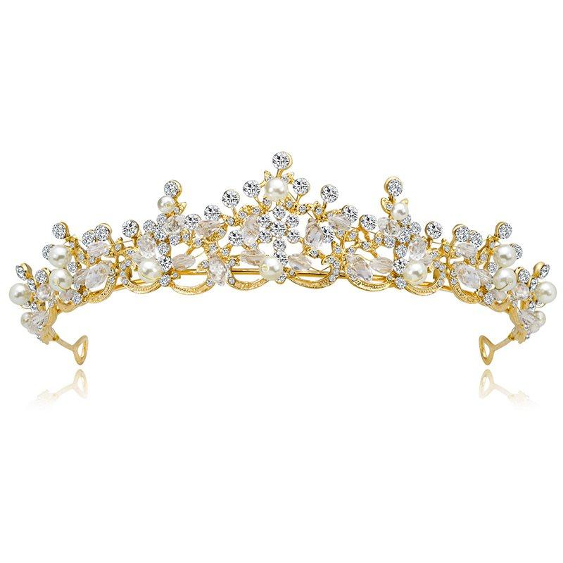European Crown Pearl Inlaid Hair Accessories (Wedding)