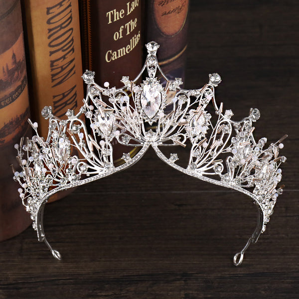 Tiara Crystal Inlaid Crown Hair Accessories (Wedding)