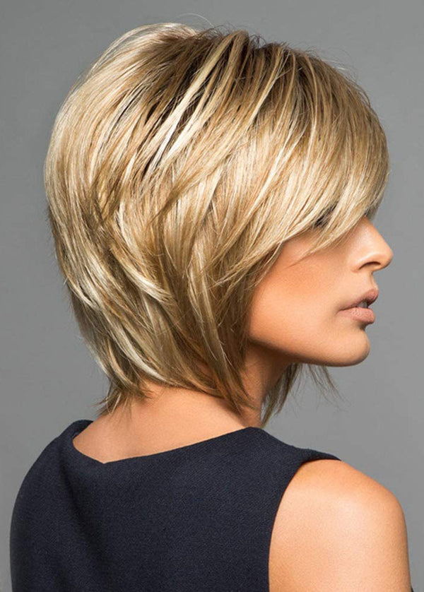 Short Straight Wigs Women Synthetic Hair