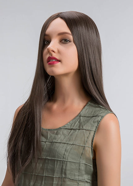 Women Capless Synthetic Long Straight Hair Wigs 24 Inches