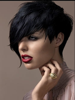 Custom Top Quality Natural Soft Cheap Short Pixie Hair Cut Synthetic Wig