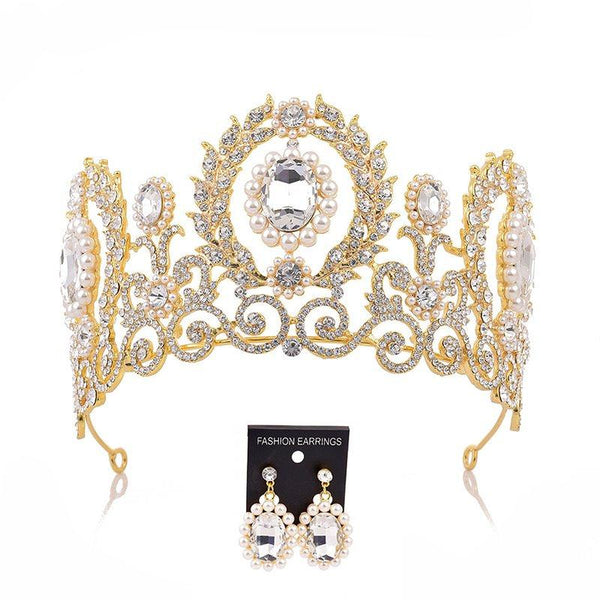 Crown Diamante Tiara Hair Accessories (Wedding)