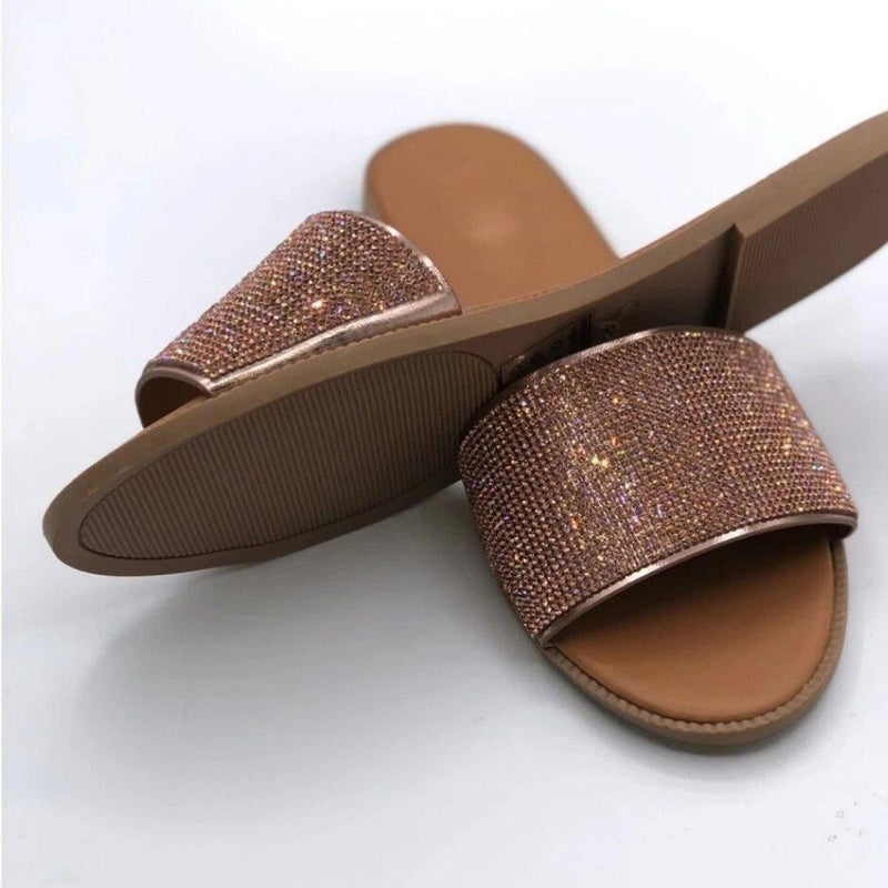 Flip Flop Slip-On Flat With Sequin Casual PVC Slippers
