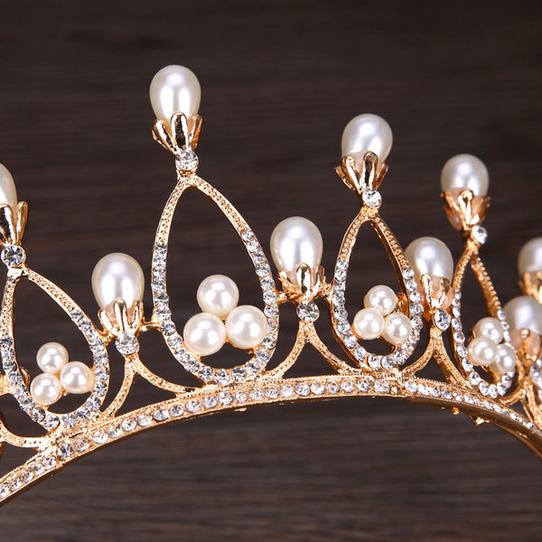 Beautiful Pearl Tiara European Crown Hair Accessories (Wedding)