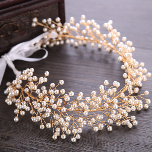 Beautiful Bridal Headdress Pearl Handmade Hair Accessories (Wedding)
