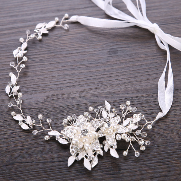 Bridal Headdress Pearl Handmade Hair Accessories (Wedding)
