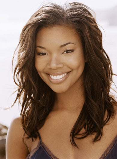 Gabrielle Union Long Wavy Brown 100% Remy Human Hair Full Lace Wigs 16 Inches