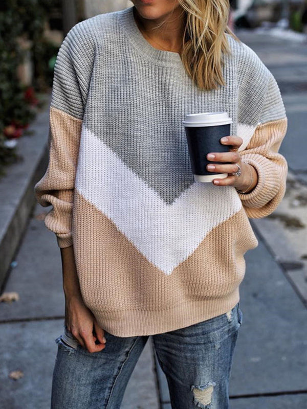 Thin Round Neck Long Sleeve Sweater