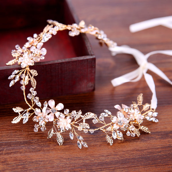 Leaf Headband Beautiful Bridal Headdress Handmade Hair Accessories (Wedding)