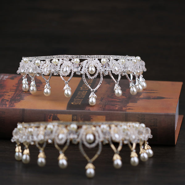 Handmade Crystal Headband Tiara European Crown Hair Accessories (Wedding)