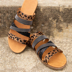 Slip-On Flip Flop Flat With Casual Leopard Slippers