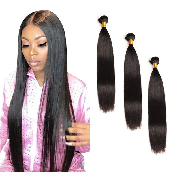 Straight Brazilian Virgin Hair 3Bundles Mix Length