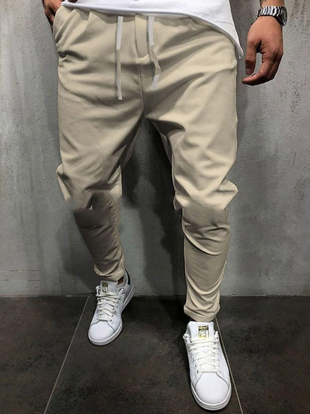 Plain Lace-Up Spring Lace-Up Casual Pants