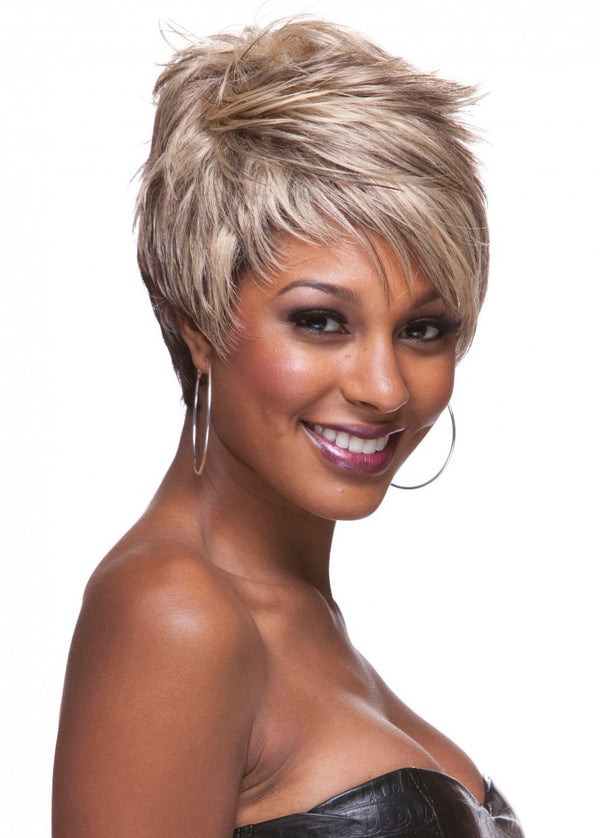 Boy Cut Hairstyle Women Short Synthetic Hair Wigs