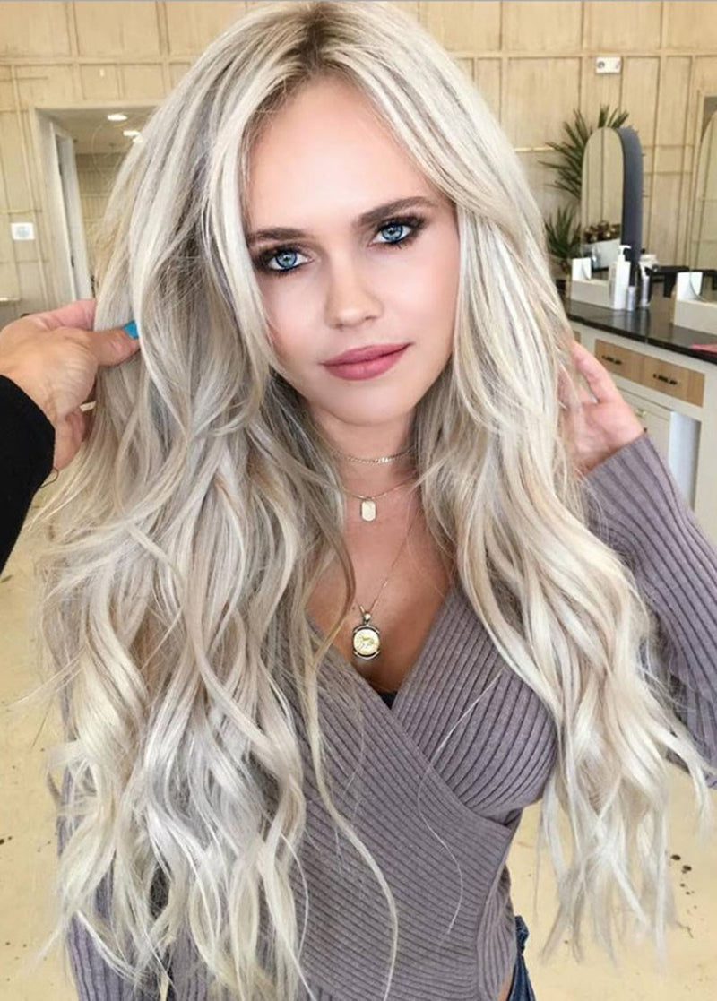 Synthetic Hair Lace Front Cap Wavy Long Women's Wigs 24 Inches