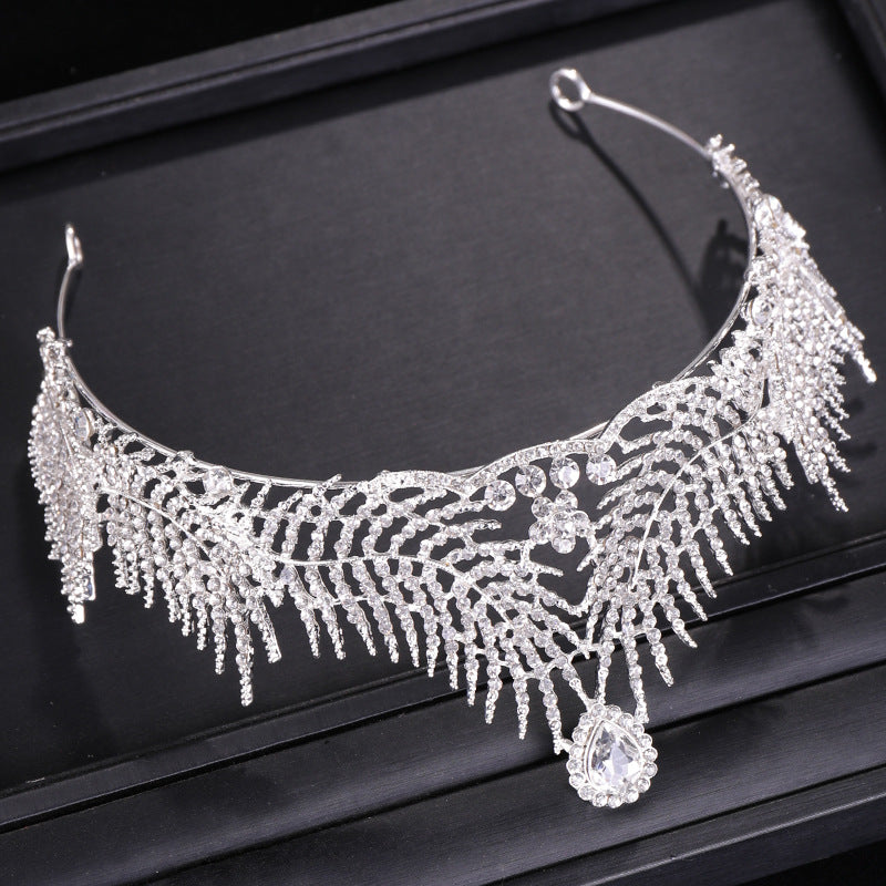 Leaf Rhinestone Tiara European Hair Accessories (Wedding)