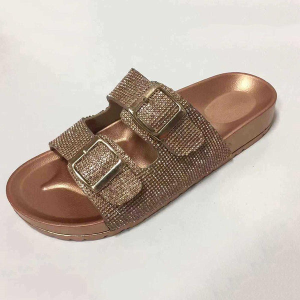 Flip Flop Buckle Flat With Slip-On Beach PVC Slippers