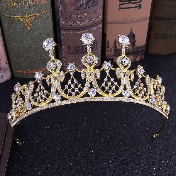 Baroque Exquisite Rhinestone Crown Hair Accessories