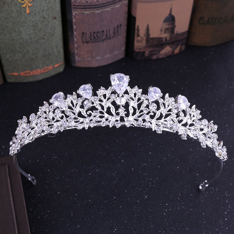 Baroque Exquisite Rhinestone Crown Hair Accessories Wedding Accessories