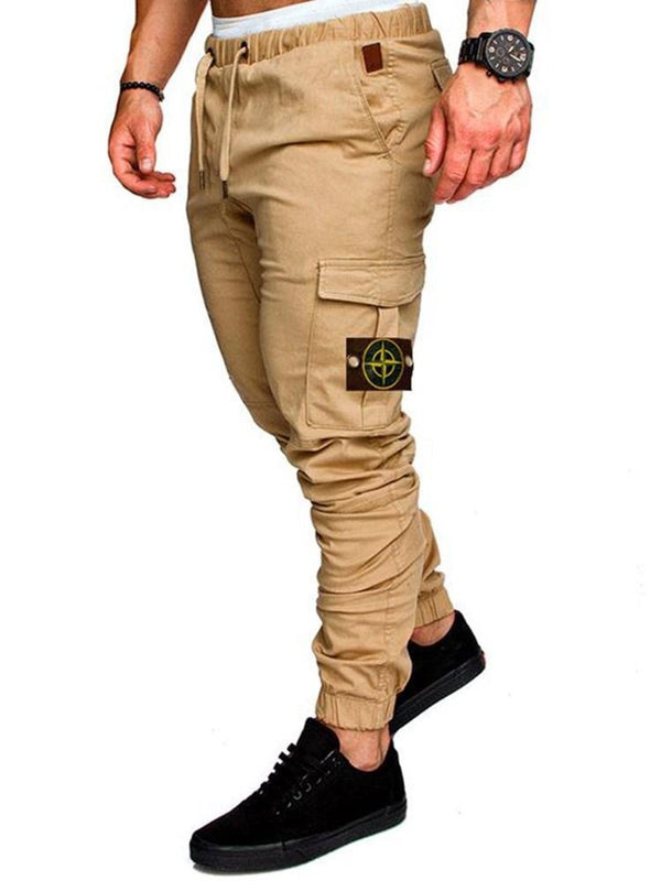 Pocket Thin Lace-Up Casual Casual Pants