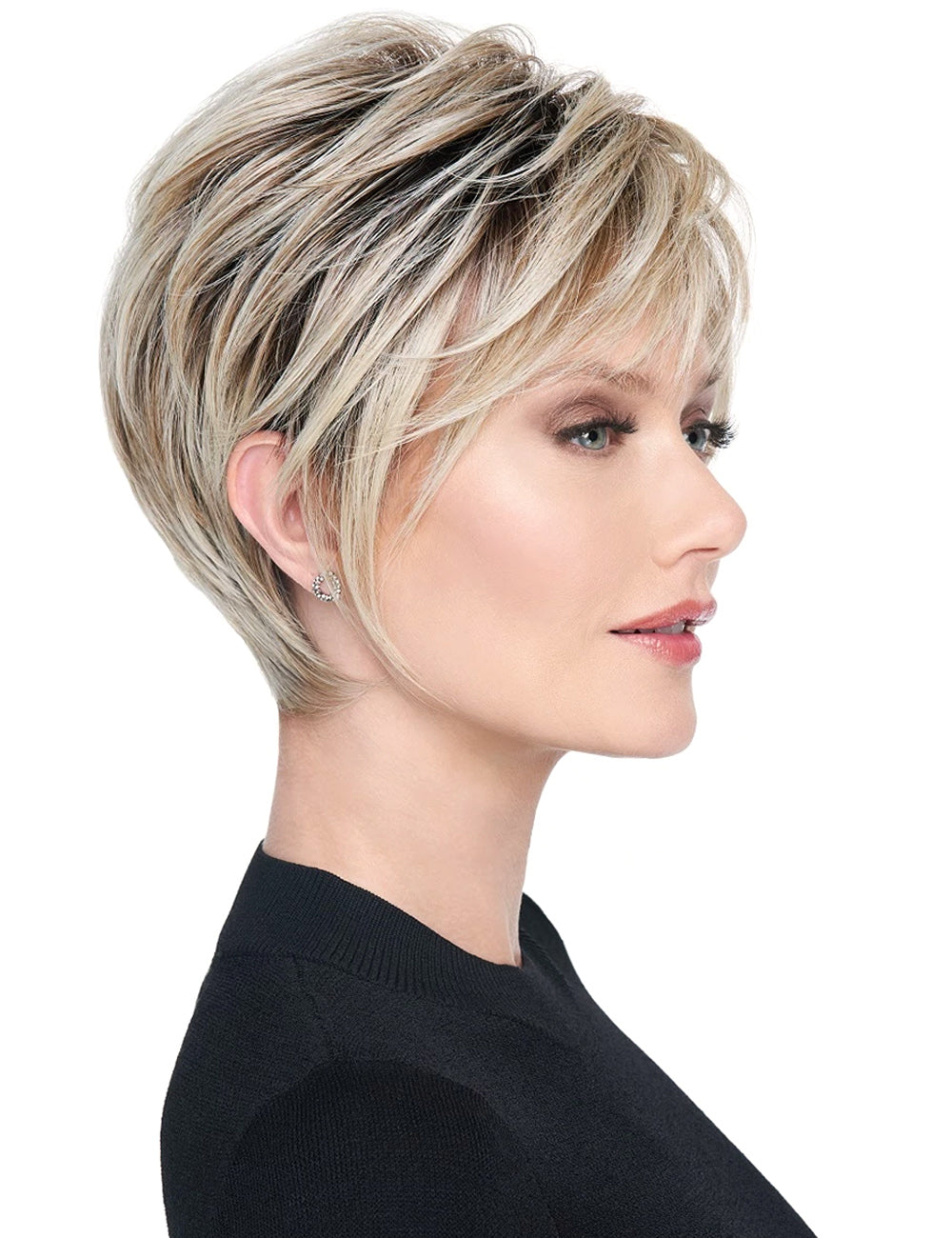 Short Pixie Cut Hairstyle Straight Women Wigs 8Inches Synthetic Hair