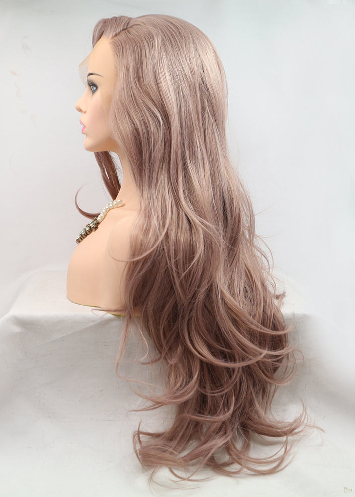 Long Wavy Wigs Fashion Women Capless Synthetic Hair 22 Inches Wigs