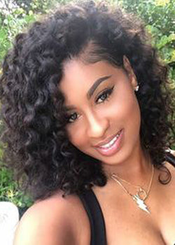 Kinky Curly Capless Synthetic Hair African American For Black Women Wig