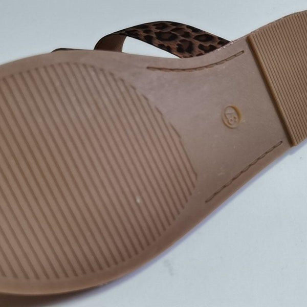 Thread Flat With Flip Flop Slip-On Plain Summer Slippers