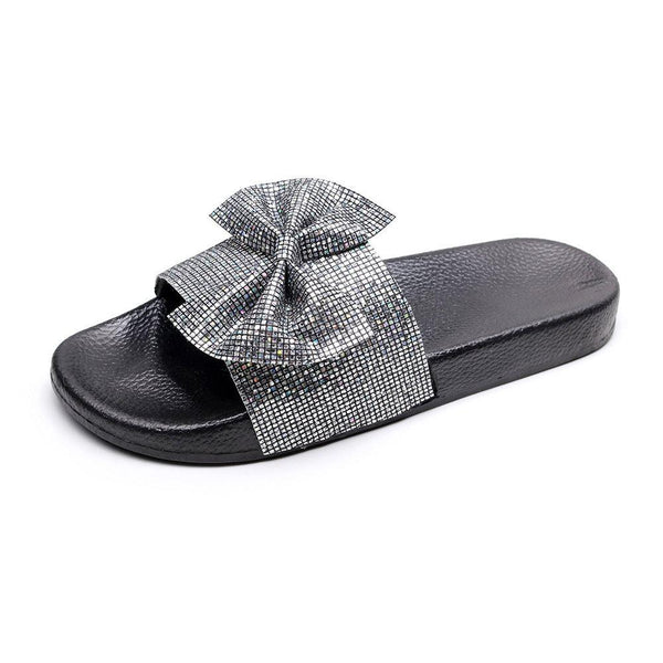 Flat With Slip-On Flip Flop Bow PVC Slippers