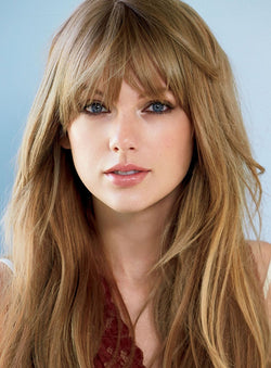 Taylor Swift Hairstyle Long Straight Synthetic Hair Capless Wig 18 Inches