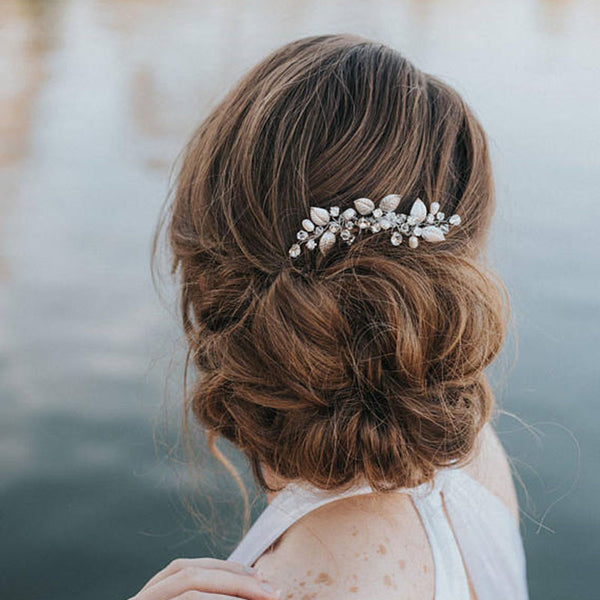 Leaves Head Flower Handmade Bride Hair Comb