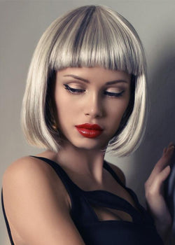 Capless Synthetic Hair Straight Wigs Short Bob Hairstyle