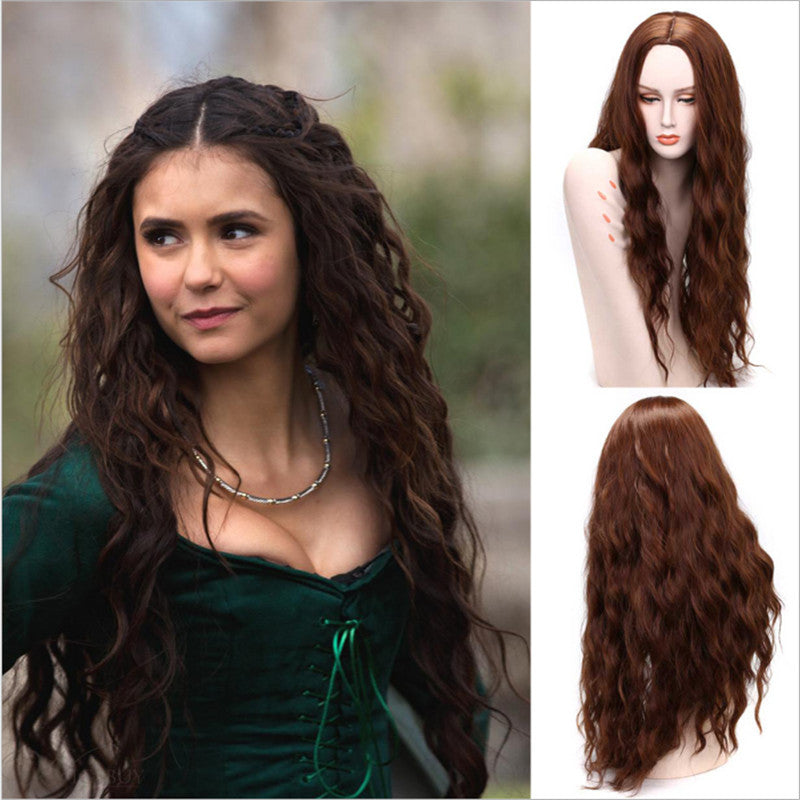20 Inches Wavy Full Lace Cap Synthetic Hair Long Women Wigs