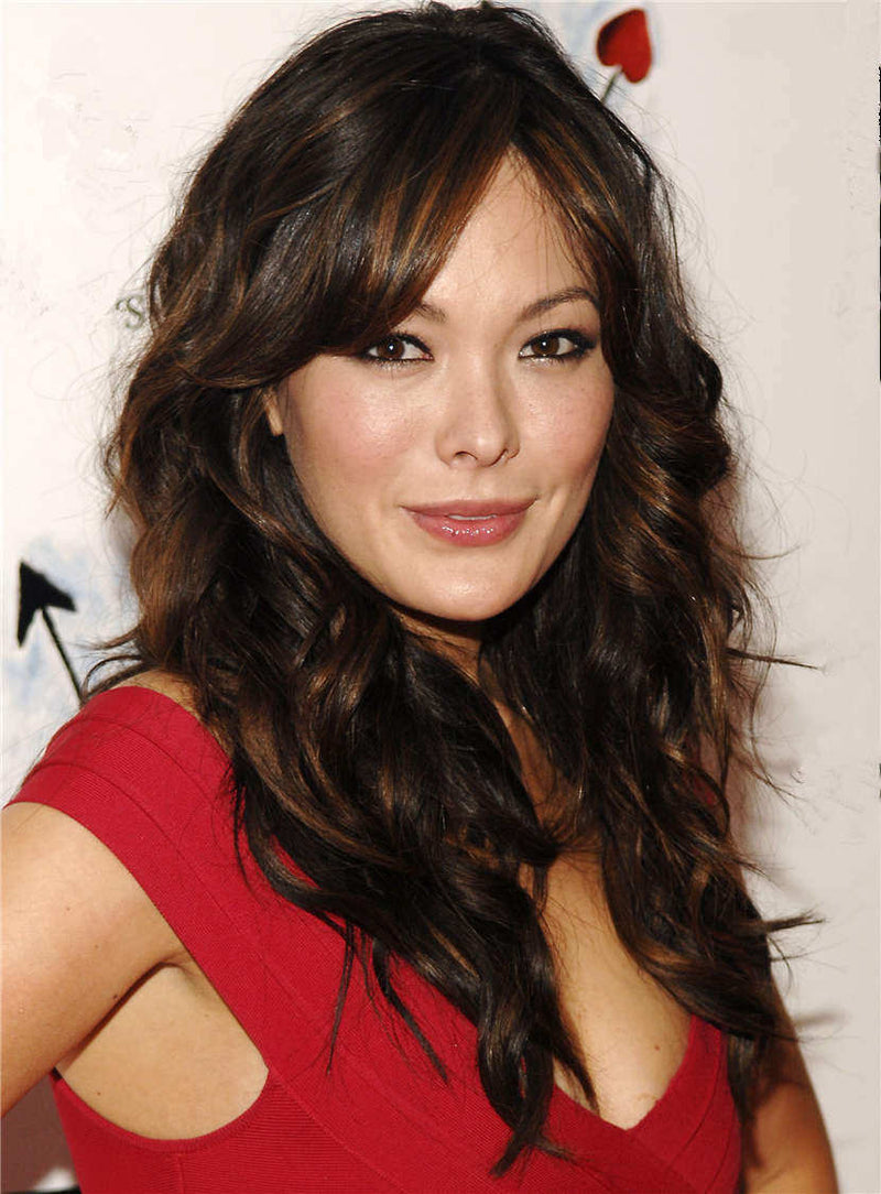 Long Comfortable Wavy Natural Synthetic Hair Lace Front Women Wig 20 Inches