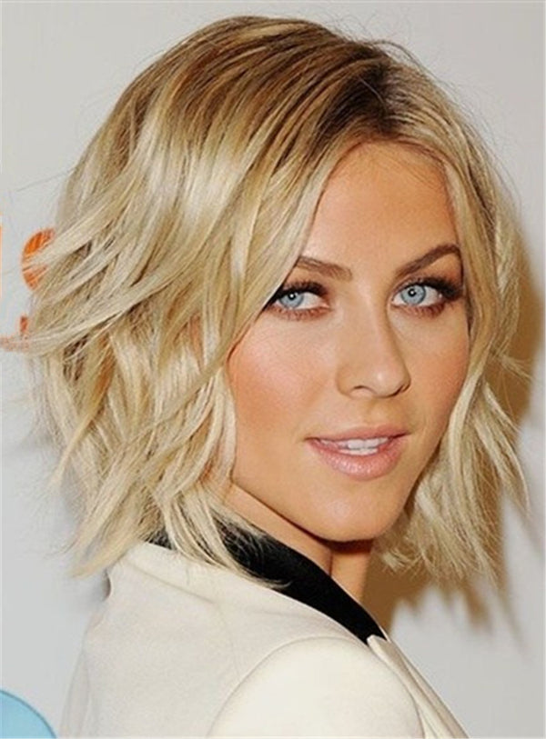 Short Layered messy Charming Wavy Lace Front Synthetic Hair Women Wigs 10 Inches