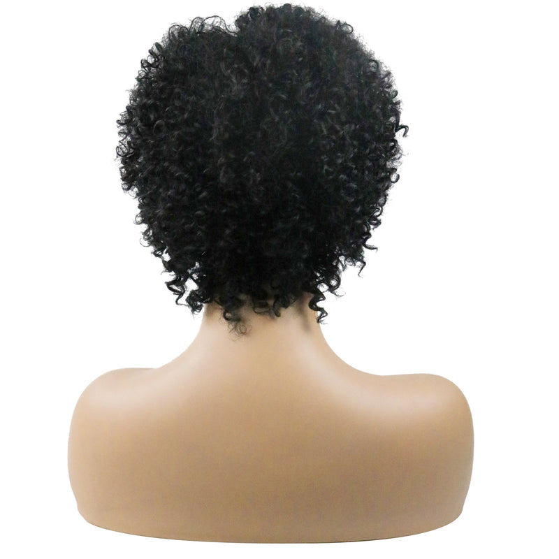 Synthetic Hair Kinky Curly Capless Women 14 Inches Wigs