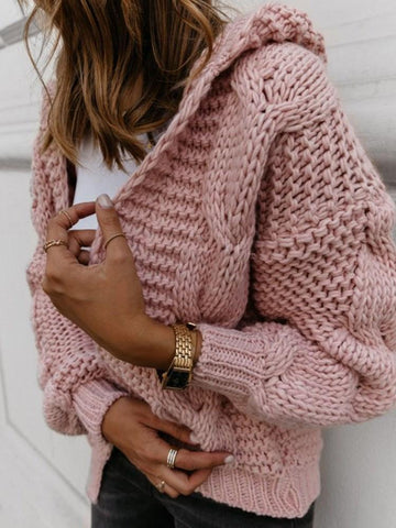 Thick Regular Wrapped Mid-Length Loose Sweater