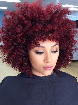 Synthetic Hair Women Curly Capless 14 Inches Wigs