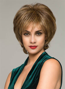 10 Inches Synthetic Hair Capless Straight Short Wigs For Women