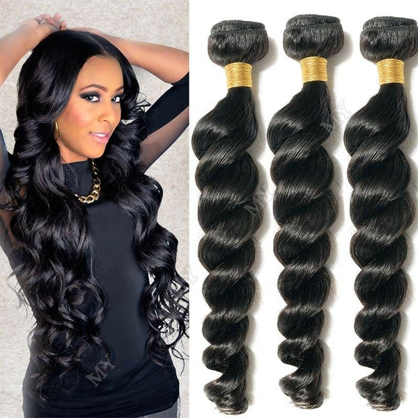 Loose Wave Human Hair Unprocessed Brazilian Hair Extensions  3Packs