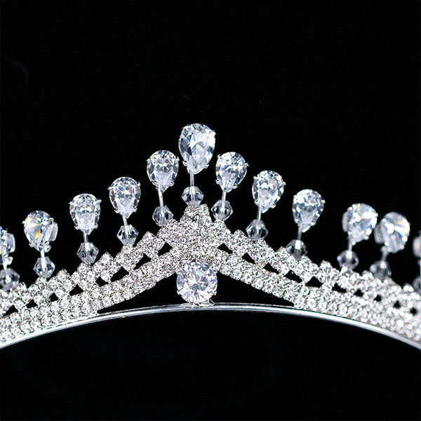 Tiara Crown Diamante Anniversary Hair Accessories