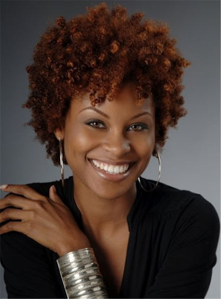 African American Curly Synthetic Hair Capless Short Wigs For Black Women