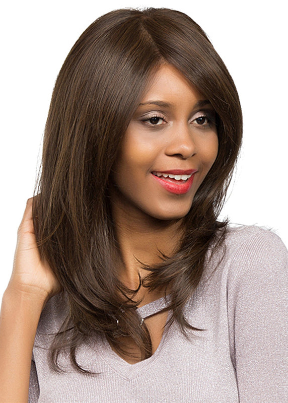 Ethereal Natural Brown Long Straight Hair Synthetic Wig 20 inch Woman hair