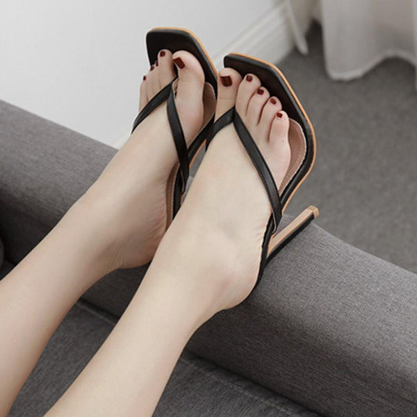 Slip-On Stiletto Heel Thong Professional Western Slippers