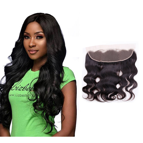 Remy Brazilian Lace Frontal Closure Body Wave 13 x4 Free Part Remy Human Hair Bundles Pre Plucked Closure