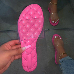 Flat With Slip-On Flip Flop Thread Summer Compound Slippers