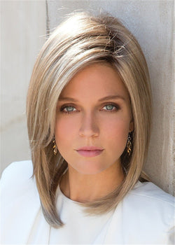 Middle Length Bob Hairstyle Women Synthetic Hair Straight Wigs