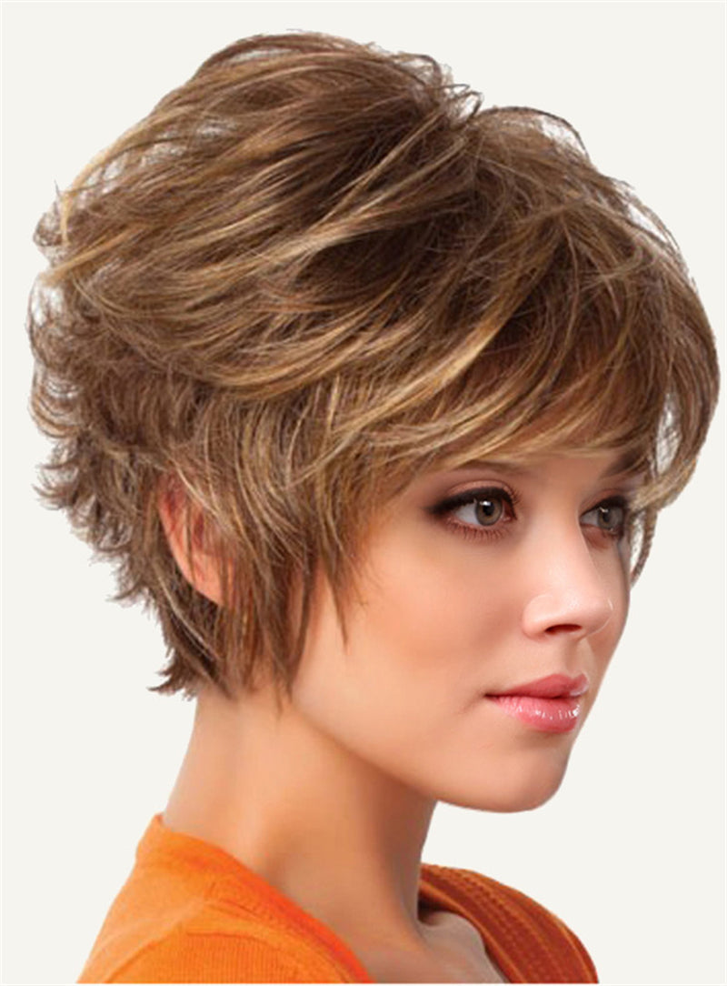 Straight Synthetic Hair Capless Short Wigs