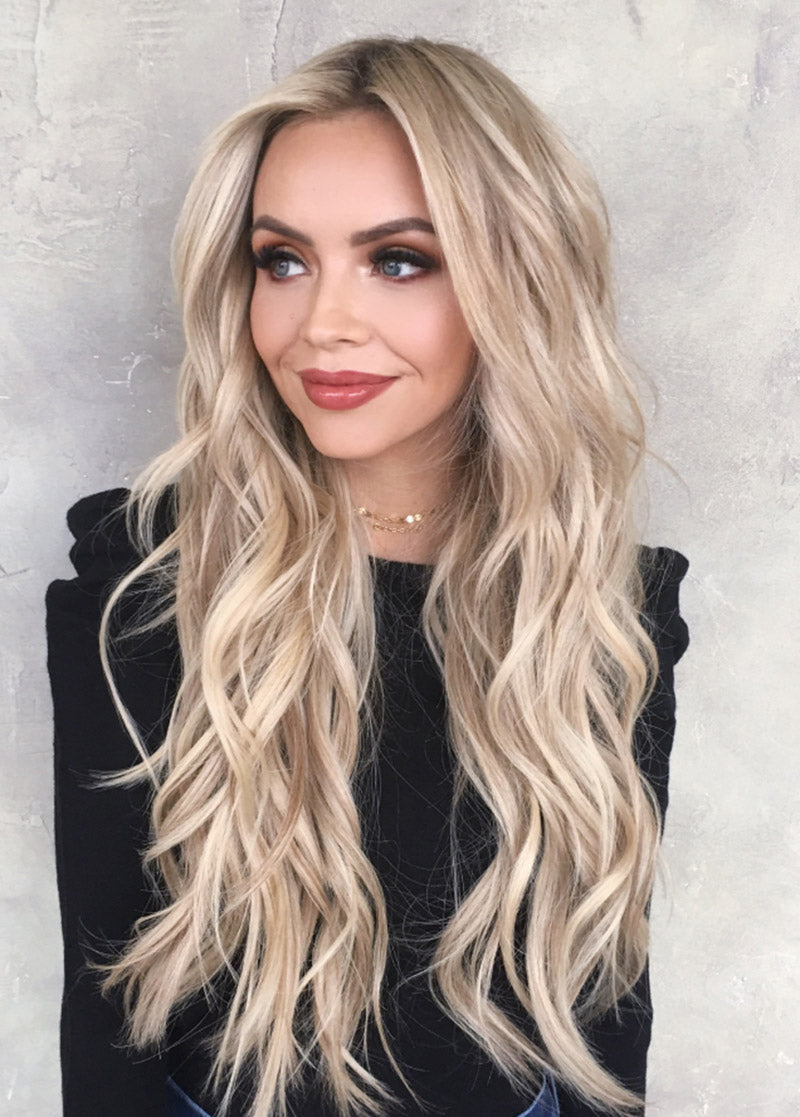 Capless Synthetic Hair Golden Big Wavy Long Women Wigs